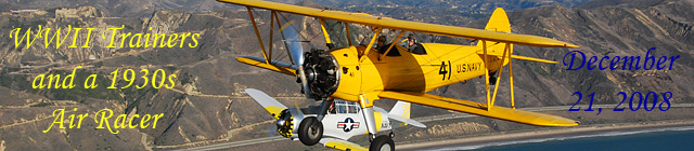 Click here for the WWII trainer and 1930s Air           Racer gallery